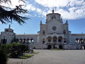 Il retro del famedio - Cimitero Monumentale - Milano