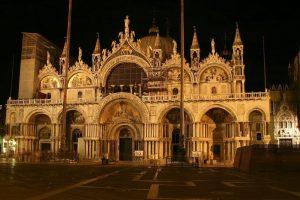 Beautiful Basilica San Marco at night - September 2007 - Venice - Italy