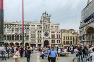 Torre dell'Orologio (San Marco Clocktower) on the  Procuratie Vecchie- Piazza San Marco - Venice