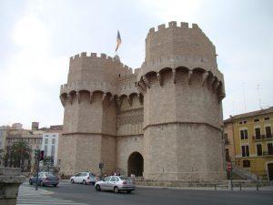 Vista de las Torres De Serranos
