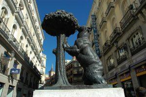 El Oso y el Madroño, en la Puerta del Sol de Madrid.
