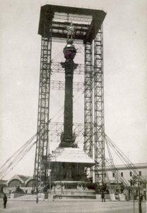 construcción del monumento a Colón