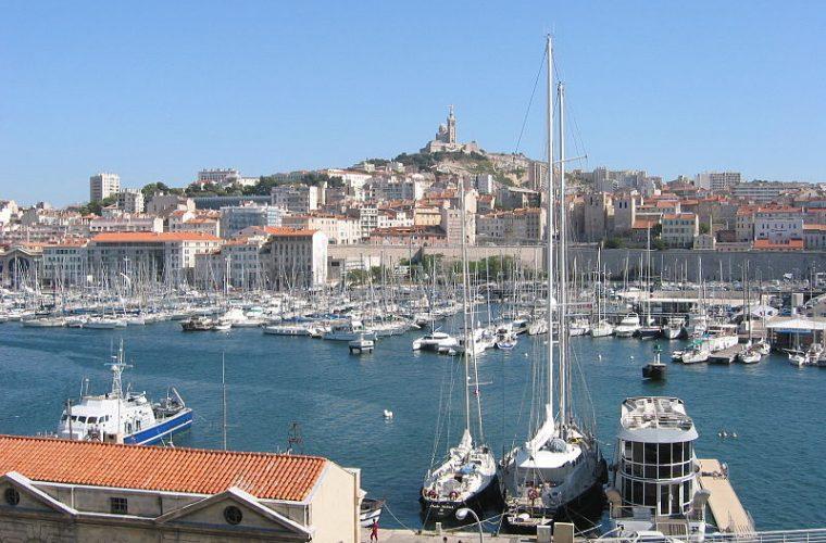 Vista de Marsella desde el Vieux-Port