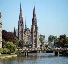 Vista de Estrasburgo con la Catedral
