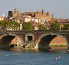 Vista de Toulouse con el Pont Neuf
