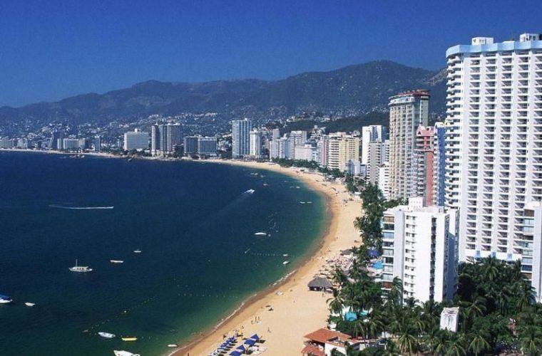Vista del balneario de Acapulco