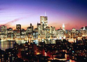 Vista de los rascacielos en la ciudad de Nueva York