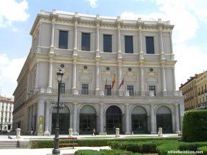 Fachada oeste del Teatro Real de Madrid