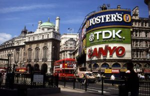 Piccadilly Circus en 1992
