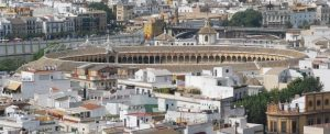 La Maestranza desde la Giralda (Sevilla, 10-9-2007)