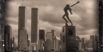 World Trade Center with Statue